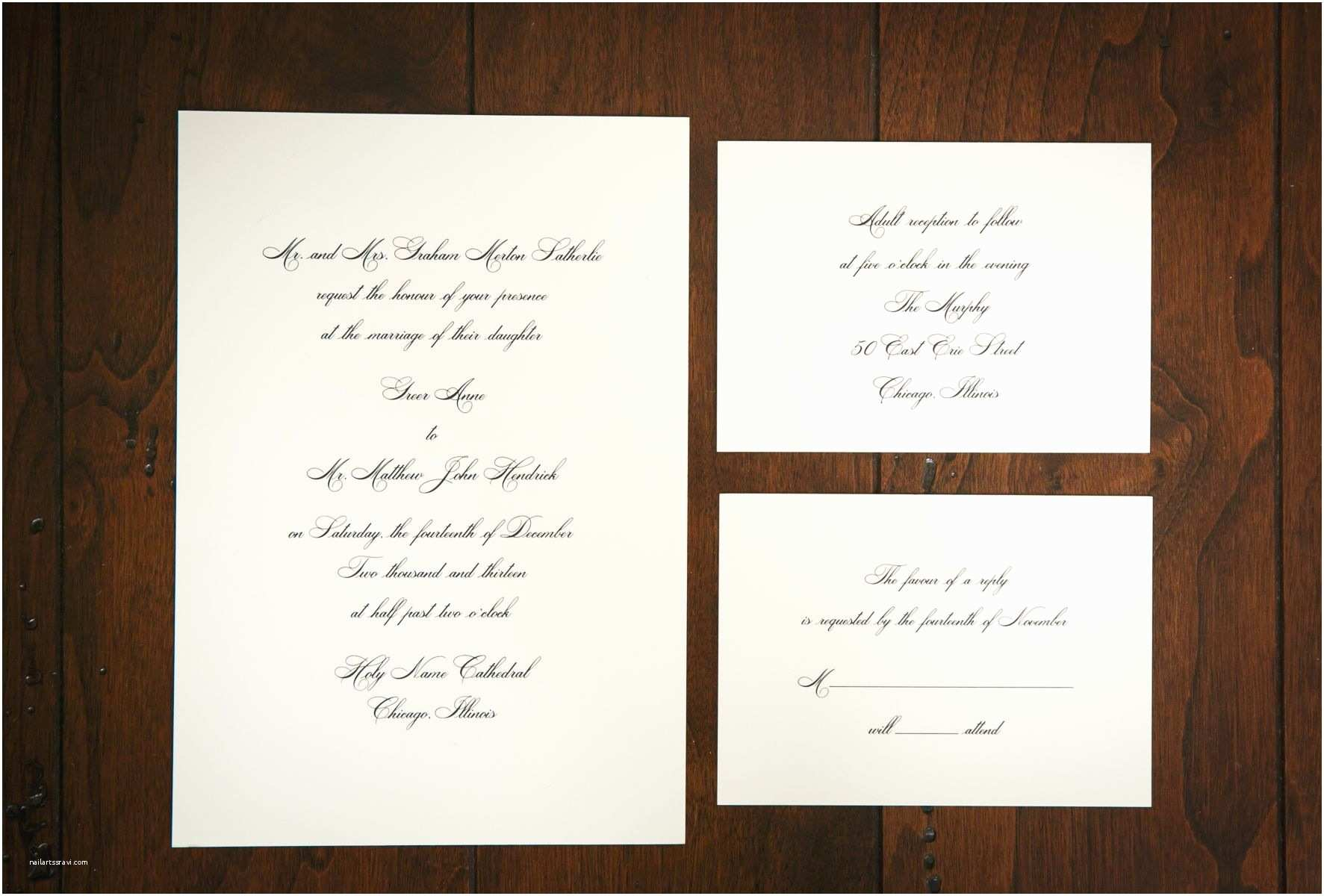 Classic Black and White Wedding Invitations Classic Black and White Wedding Invitations