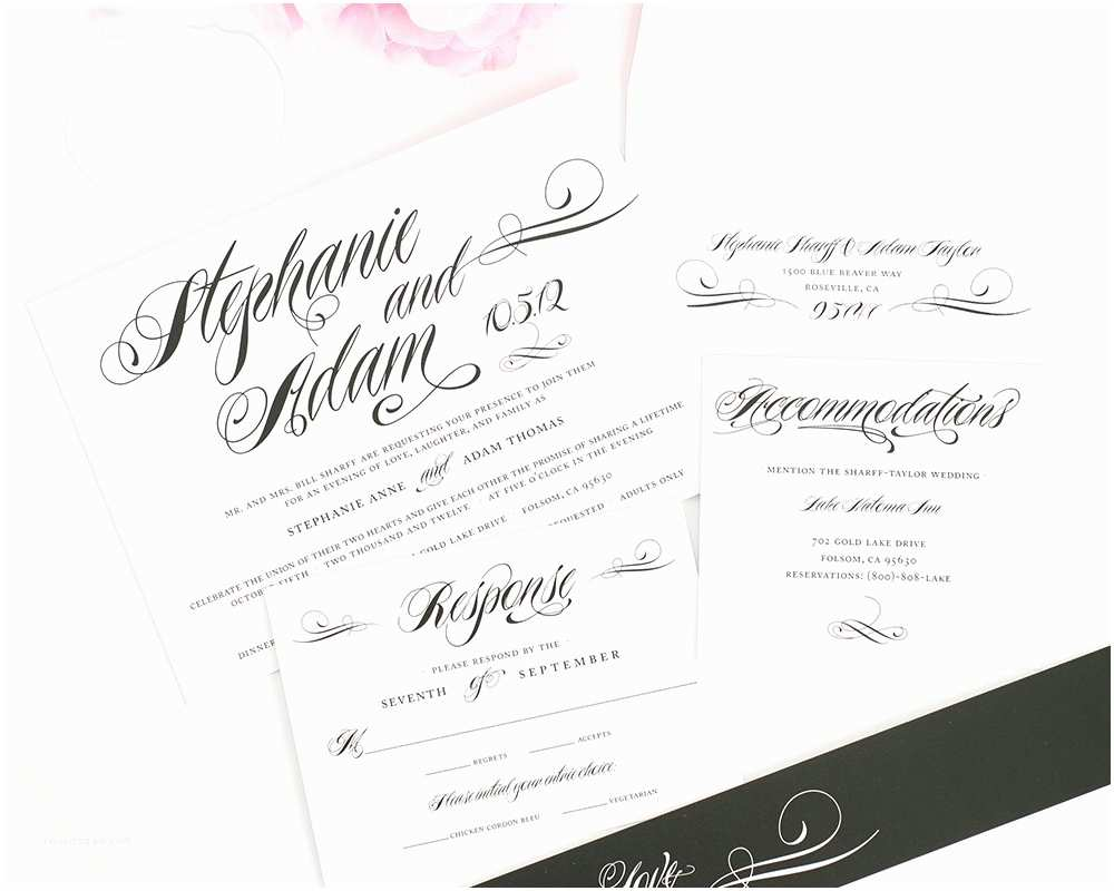 Classic Black and White Wedding Invitations Classic Black and White Wedding Invitations – Wedding