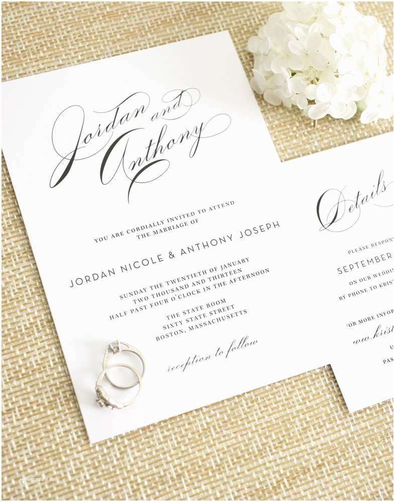 Classic Black and White Wedding Invitations Glamorous Wedding Invitations – Wedding Invitations