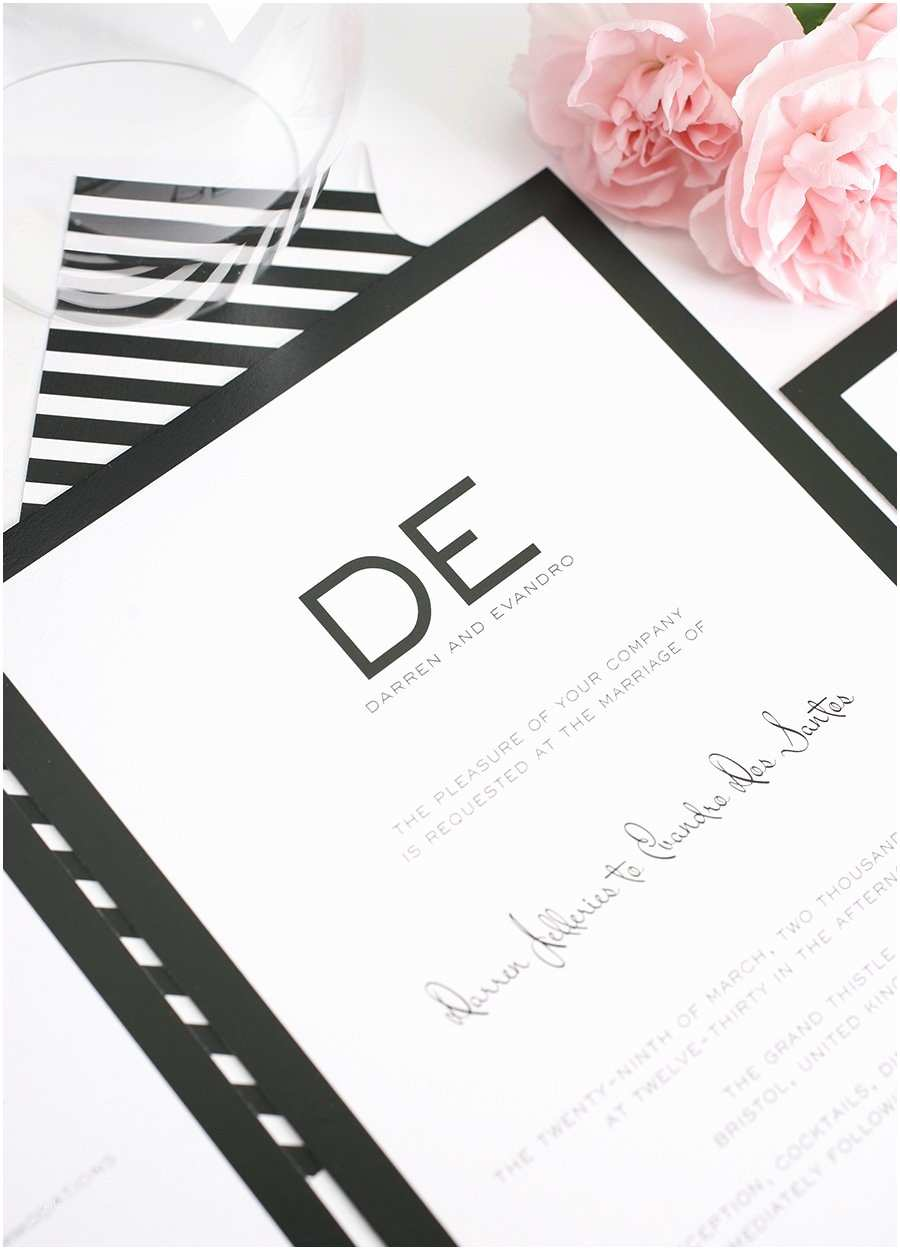 Classic Black and White Wedding Invitations Modern Wedding Invitations In Black and White – Wedding