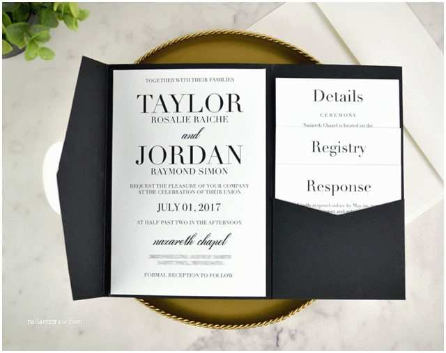 Classic Black and White Wedding Invitations My Diy Story Archives Cards & Pockets Design Idea Blog
