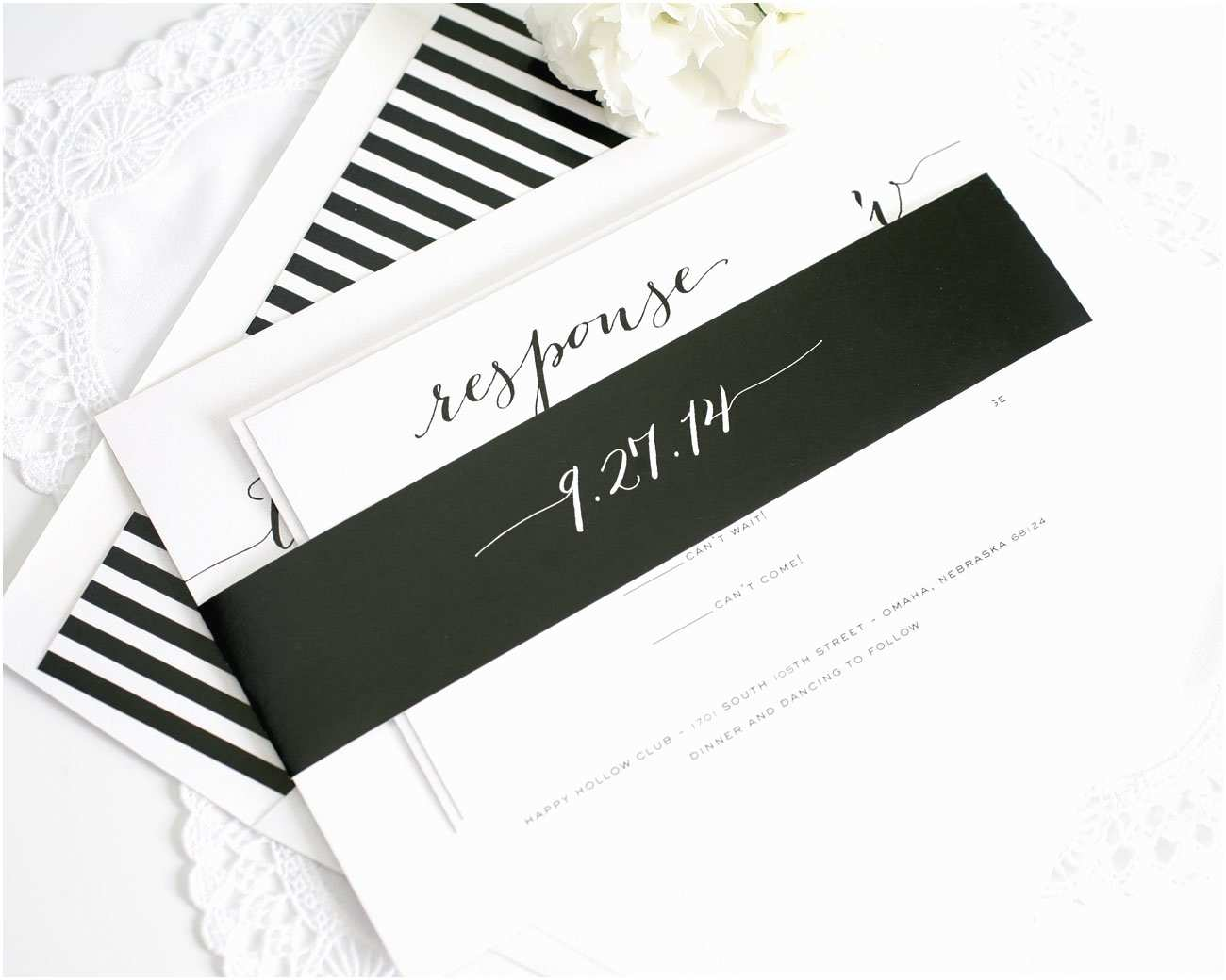Classic Black and White Wedding Invitations Rustic Wedding Invitations In Black – Wedding Invitations