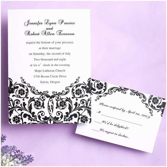 Classic Black and White Wedding Invitations Steady Black and White Wedding Invitation Iwi101 Wedding
