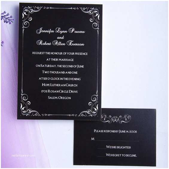 Classic Black and White Wedding Invitations Vintage Black and White Printable Wedding Invitations