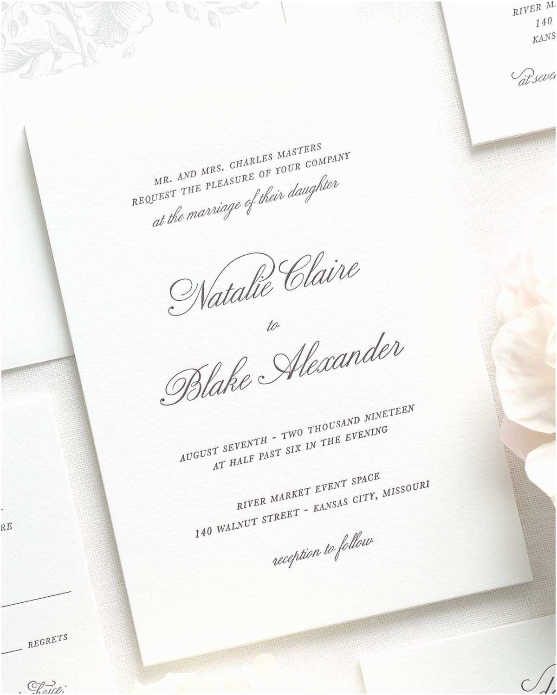 simple classic wedding invitations