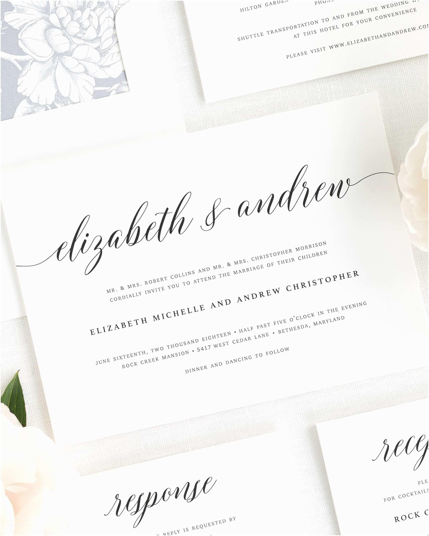 Classy Wedding Invitations 2016 Wedding Invitations by Shine Wedding Invitations