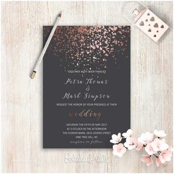 Classy Wedding Invitations Elegant Wedding Invitations Simple Wedding Invitation Rose