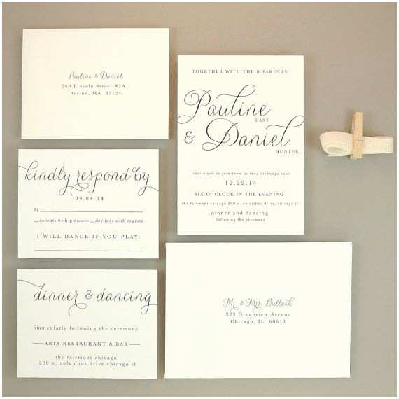 Classy Wedding Invitations Invitations Elegant Wedding to Pin On Pinterest