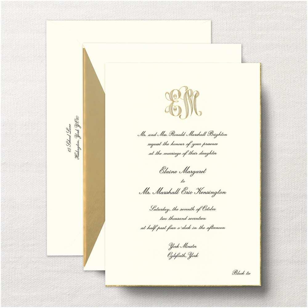 Classy Wedding Invitations Marvelous Classy Wedding Invitations