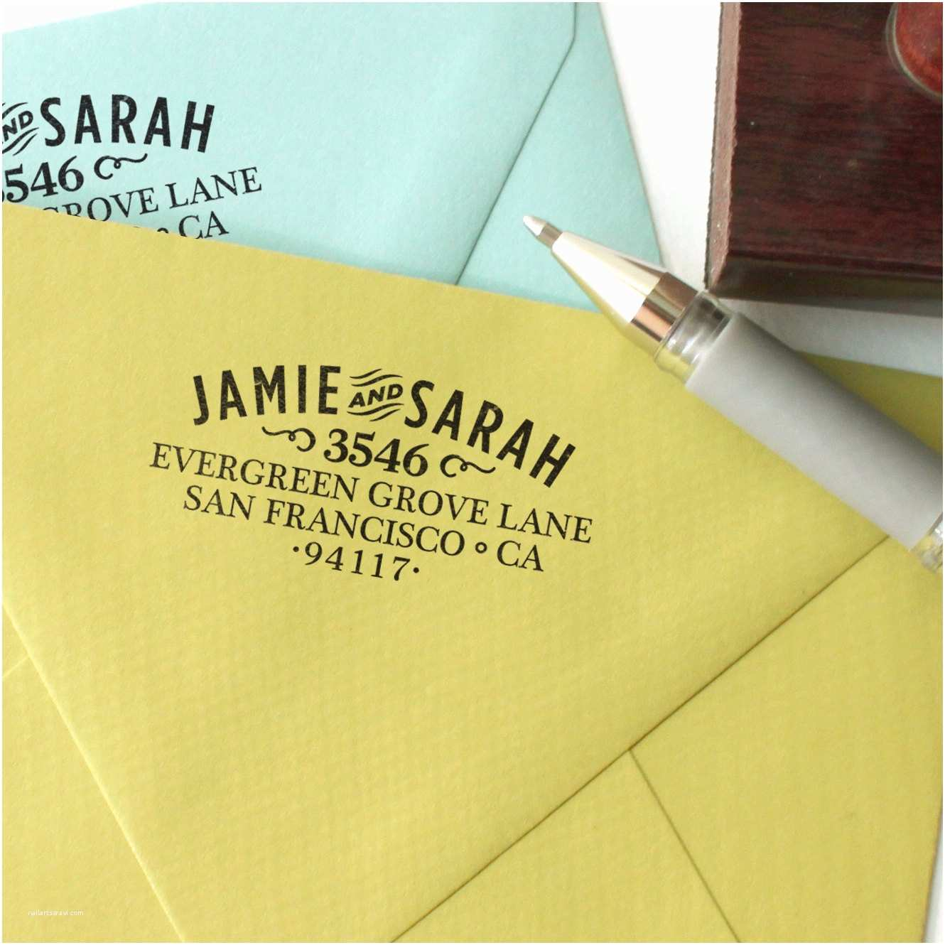 Clear Address Labels For Wedding Invitations Custom Return Address Stamp For All Those Thank You