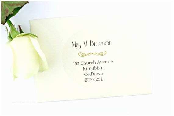 Clear Address Labels For Wedding Invitations Wedding Envelope Address Labels • Return And