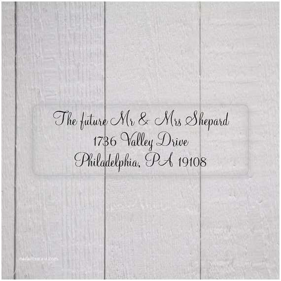 Clear Address Labels For Wedding Invitations Wedding Invitation Return Address Labels Clear
