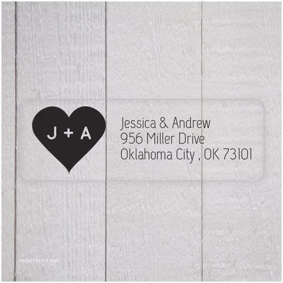 Clear Address Labels For  Invitations  Invitation Return Address Labels Clear