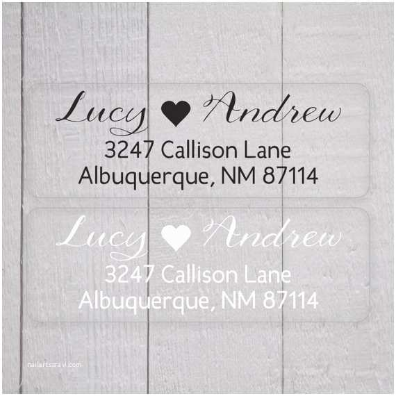 Clear Address Labels for Wedding Invitations Wedding Invitation Return Address Labels White Ink Clear