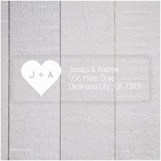 Address Labels For Wedding Invitations Wedding Invitation Return Address Labels White Ink