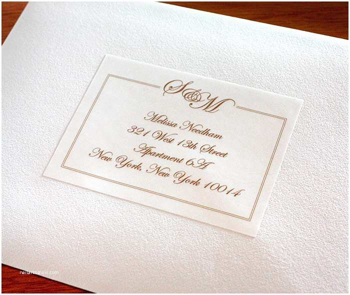 Clear Labels for Wedding Invitations Address Labels to Match Your Wedding Invitations