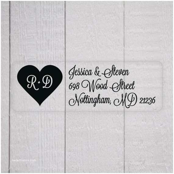 Clear Labels for Wedding Invitations Wedding Invitation Return Address Labels White Ink Clear