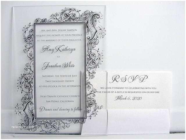 Clear Plastic Wedding Invitations Acrylic