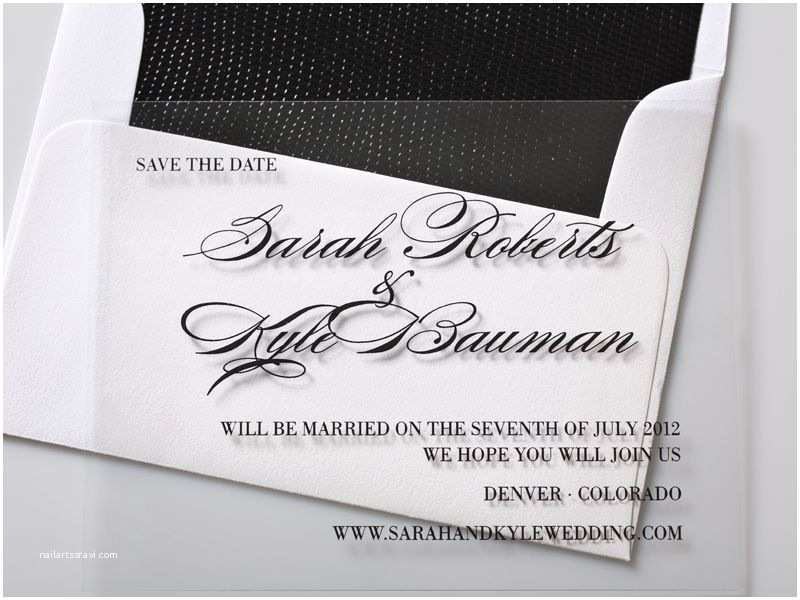 Clear Plastic Wedding Invitations Clear Plastic Save the Date Card