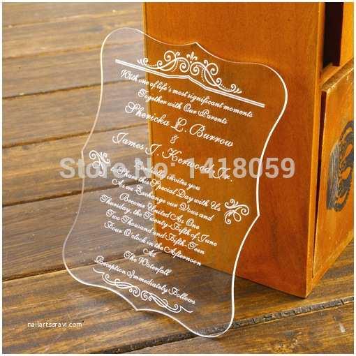 Clear Plastic Wedding Invitations Popular Clear Invitation Paper Buy Cheap Clear Invitation