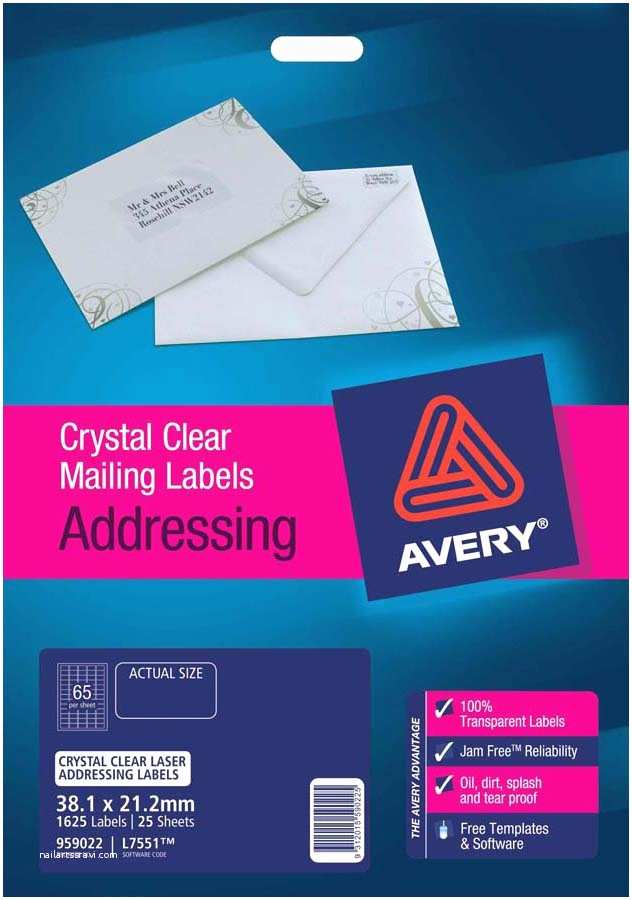 Clear Return Address Labels for Wedding Invitations Avery Crystal Clear Mini Address Labels L7551 25 Avery