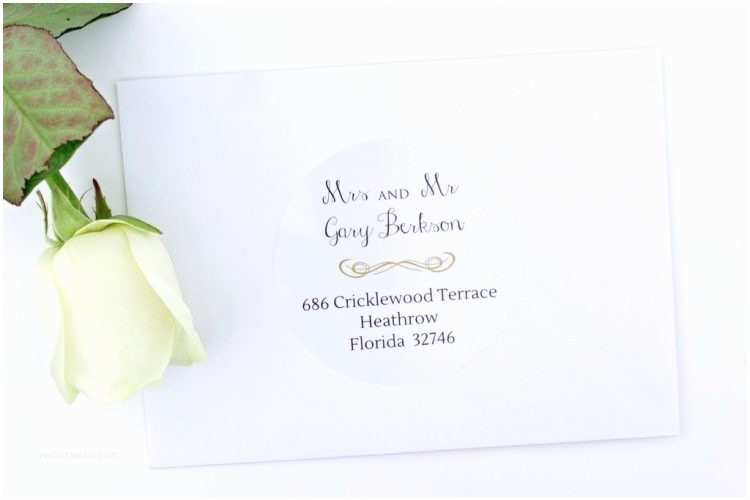 designs best clear address labels for wedding invitations