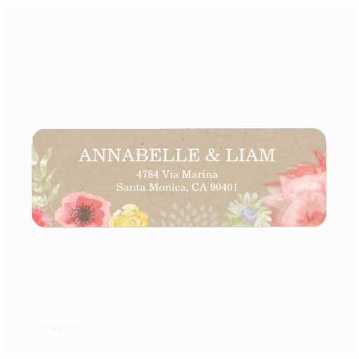 Clear Return Address Labels for Wedding Invitations Summer Wedding Invitation Address Label