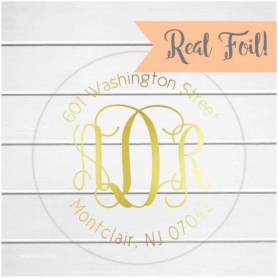 Clear Return Address Labels for Wedding Invitations Wedding Invitation Return Address Label Foil On Clear Wedding