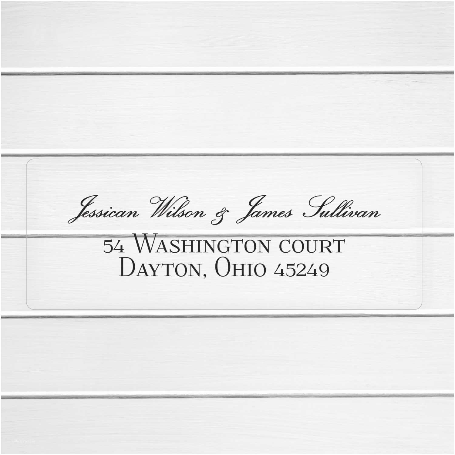Clear Return Address Labels For  Invitations  Invitation Return Address Labels Clear