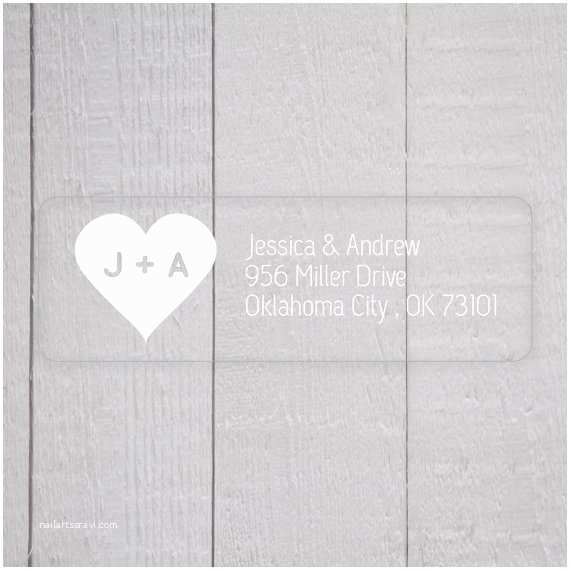 Clear Return Address Labels for Wedding Invitations Wedding Invitation Return Address Labels White Ink Clear