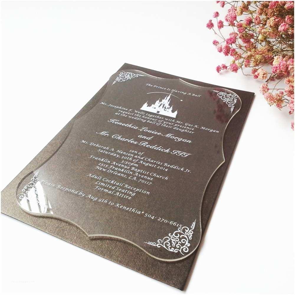 Clear Wedding Invitations Sample order for Clear Acrylic Wedding Invitation Card