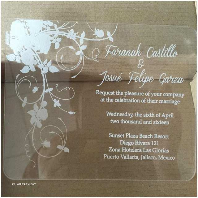 Clear Wedding Invitations Sample order for Laser Engraving Clear Acrylic Wedding
