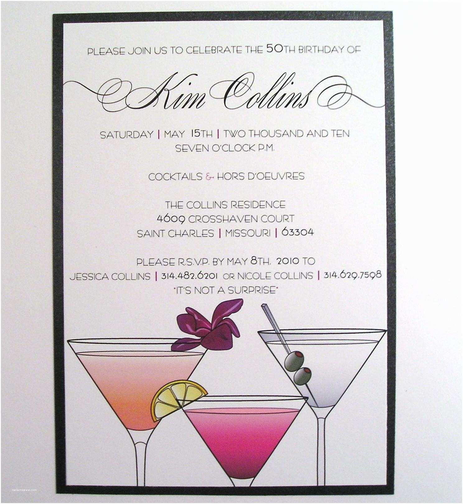 Cocktail Party Invitation Cocktail Party Invitations