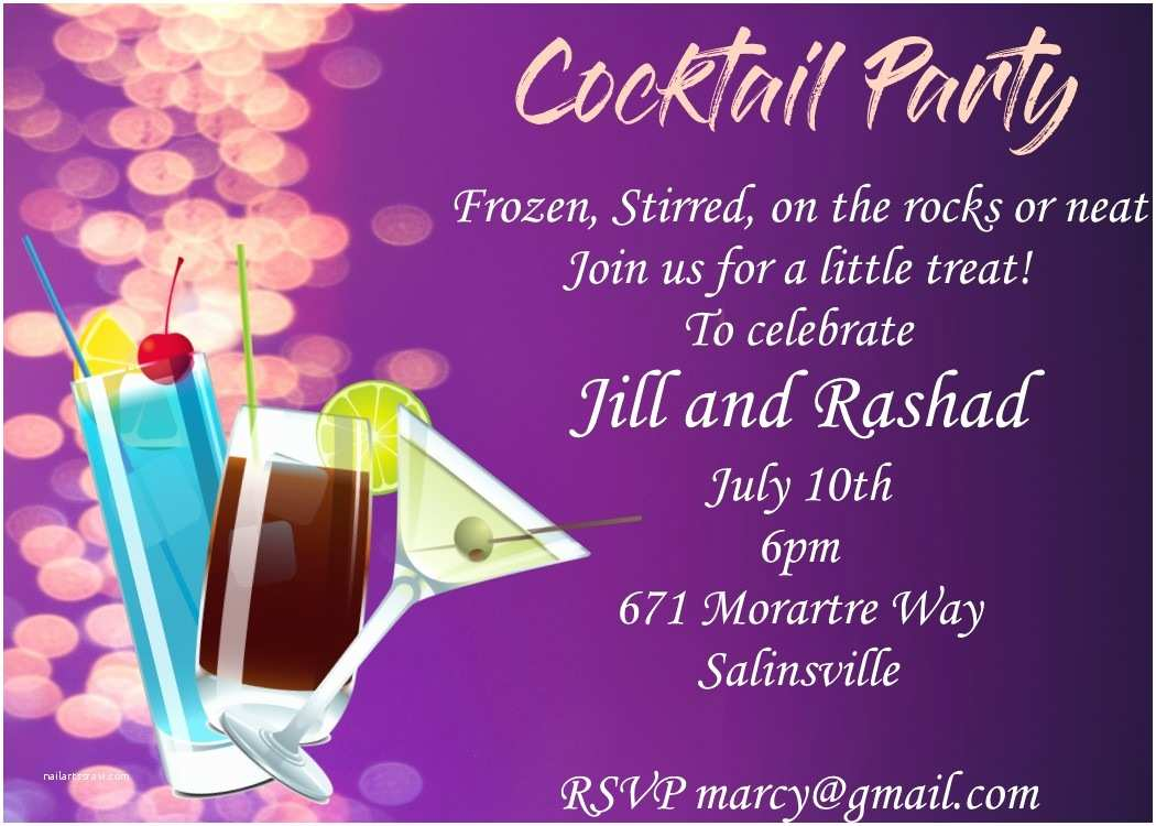 Cocktail Party Invitation Summer Party Invitations for New Selections 2018