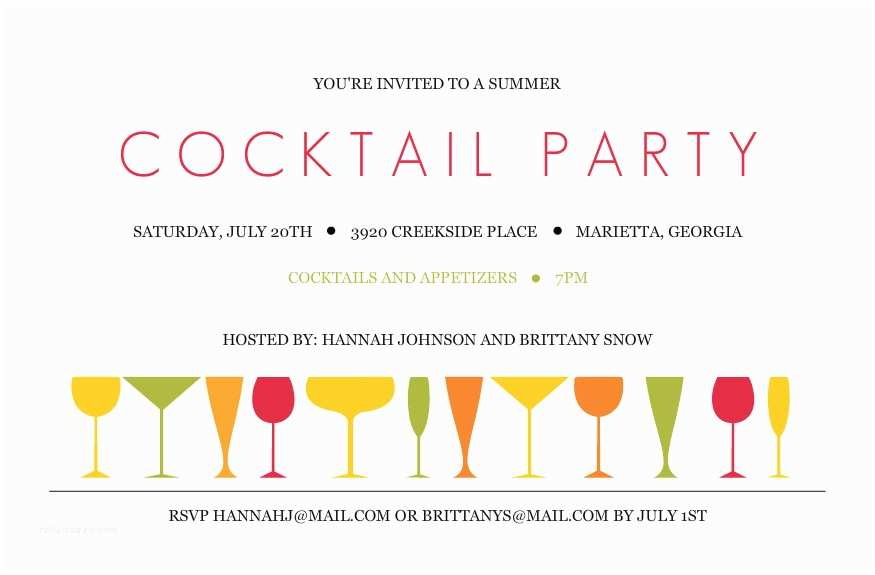 Cocktail Party Invitation Wedding Cocktail Party Invitation Wording