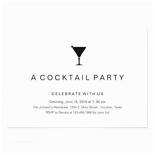 Cocktail Party Invitation Wording Black and White Cocktail Party Invitation – Invitations 4 U