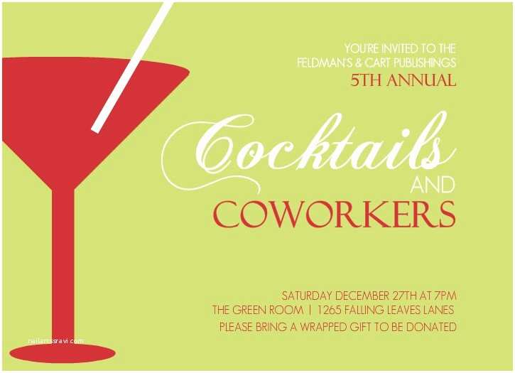 Cocktail Party Invitation Wording Corporate Cocktail Party Invitation Wording