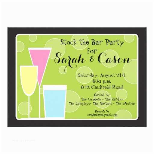 Cocktail Party Invitations Cocktail Party Trio Stock the Bar Invitation