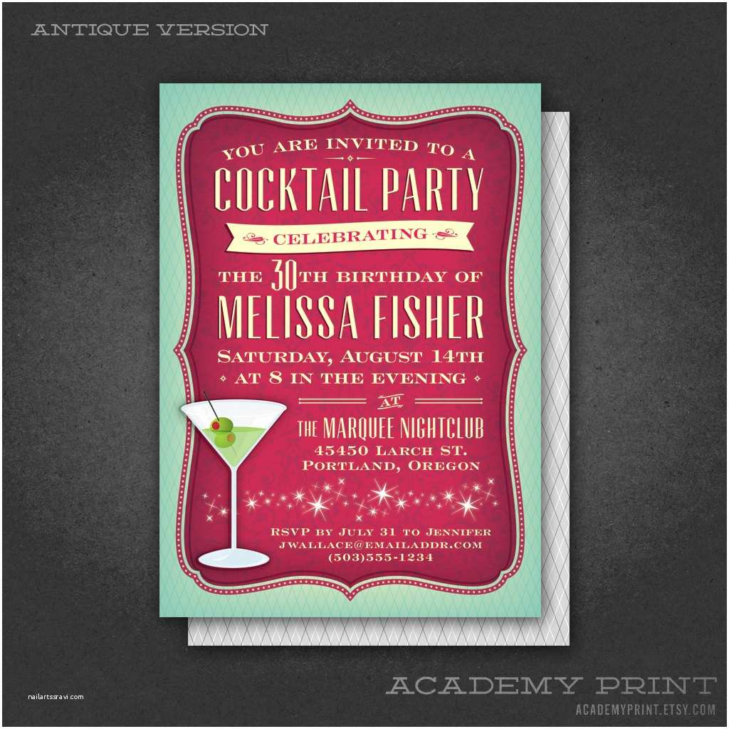 printable cocktail party birthday