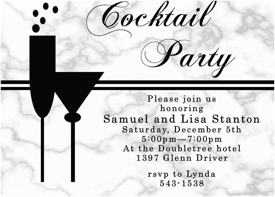 Cocktail Wedding Invitations Cocktail Party Invitation Unique Custom Created New