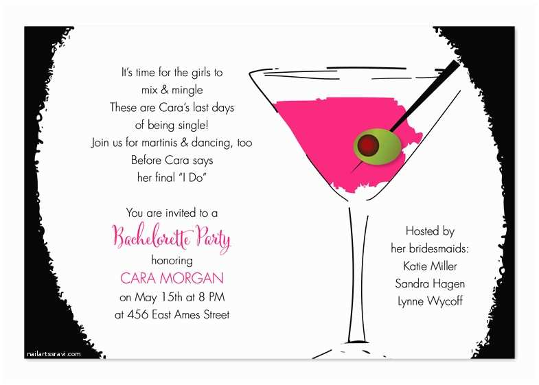 Cocktail Wedding Invitations Cool Cocktail Pink Birthday Invitations by Invitation