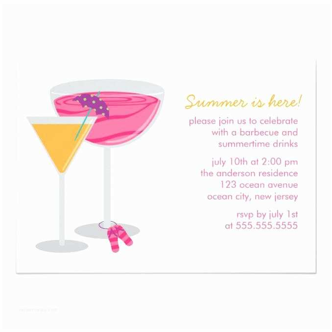 Cocktail Wedding Invitations Summer Cocktail Party Invitations Wedding Invitations