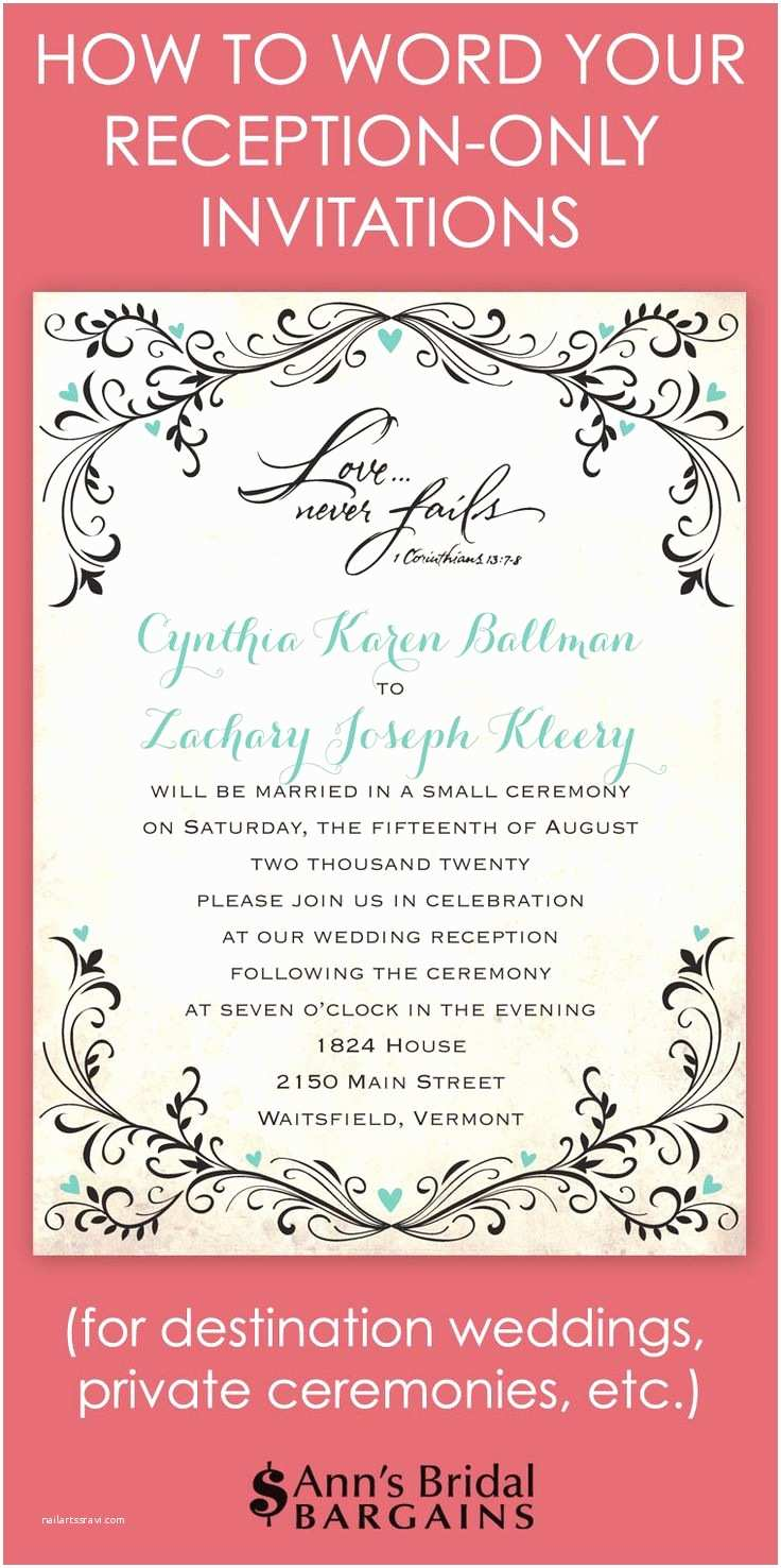 Cocktail Wedding Invitations Wedding Invitation Wording Cocktail Hour and Reception to