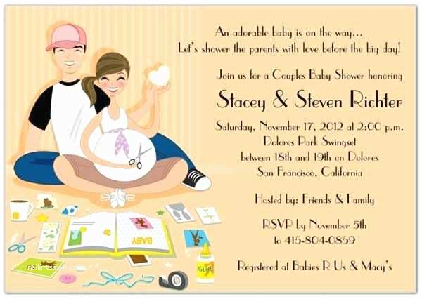 Coed Baby Shower Invitation Wording Couples Baby Shower Invitation Wording Ideas