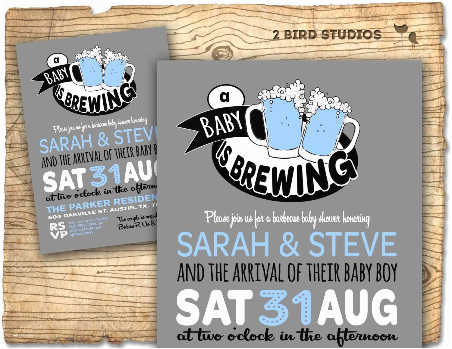 Coed Baby Shower Invitations Baby Q Beer Baby Shower Invitation Baby Q Baby Shower