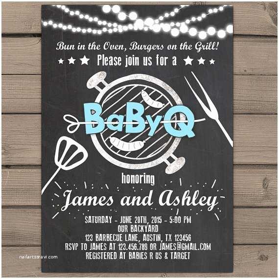 Coed Baby Shower Invitations Baby Q Invitation Coed Baby Shower Invite Bbq Invitation Co Ed