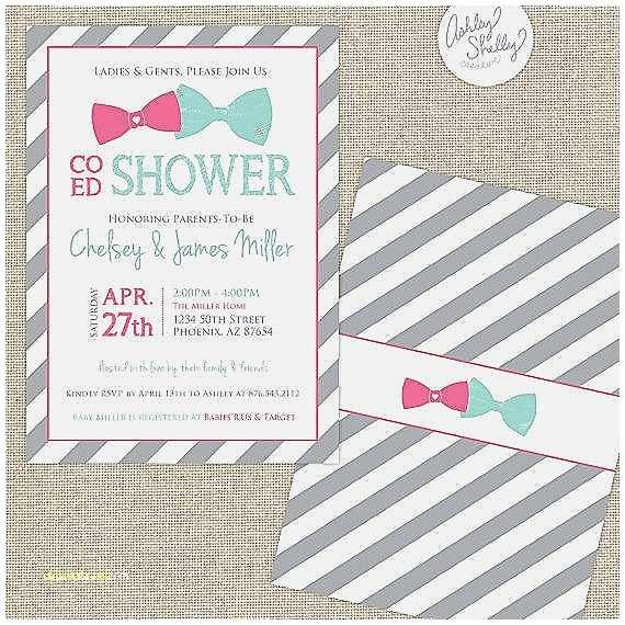 Coed Baby Shower Invitations Baby Shower Invitation Elegant Co Ed Baby Shower Invites
