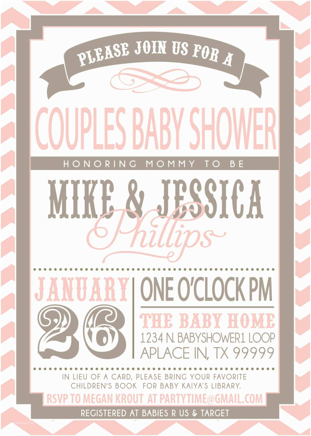 Coed Baby Shower Invitations Enchanting Couples Baby Shower Invitations Girl theruntime
