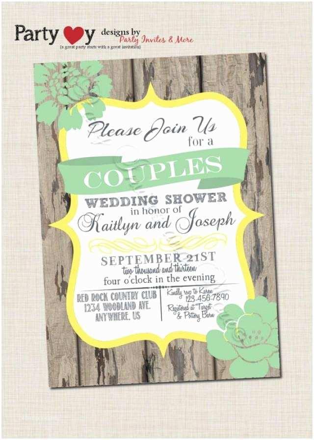 Coed Wedding Shower Invitations Couple S Wedding Shower Invitation Couples Shower