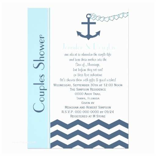 Coed Wedding Shower Invitations Couples Coed Wedding Shower Invitation Nautical